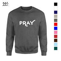 PRAY JESUS CHRIST CHRISTIAN PRINTED SWEATSHIRT CHURCH DESIGNED LONG SLEEVE SHIRT