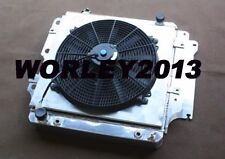 3 core aluminum radiator shroud fan for Jeep Wrangler YJ TJ LJ  RHD 1987-2006