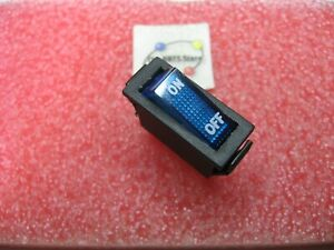 Illuminated Rocker Switch BLUE SPST Maintained 20A 125VAC LTonic T120 NOS Qty 1