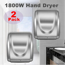 2 pcs 1800W Stainless Steel Electric Commercial and Household Auto Hand Dryer