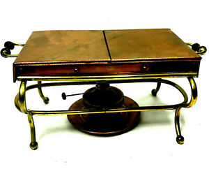Antique 1904 Hammered Copper Portable Stove With Burners On Stand