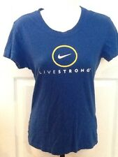 Women's Nike Fit Dry 100% Cotton Livestrong Cycling Tee Shirt Top Xs, Very Nice!