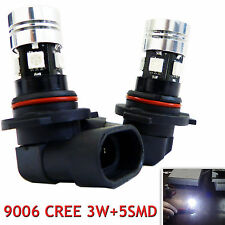 9006 3W + SMD High Power LED Fog Bulbs 6000K White Ultra High Output