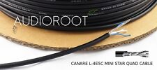 Bulk 10 feet of CANARE L-4E5C BLACK Miniature Star Quad Microphone Cable