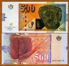 Macedonia, 500 Denari, 2003, P-21 (21a) UNC > Death Mask