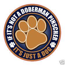 """NOT A DOBERMAN PINSCHER JUST A DOG 5"""" STICKER"""