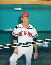 WARREN SPAHN NICE SIGNED EARLY COLOR 8x10 PHOTO CLEVELAND INDIANS MLB