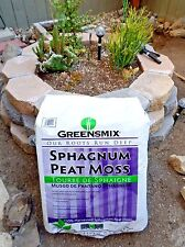 Greensmix Sphagnum Peat Moss 1 quart soil conditioner amendment aeration