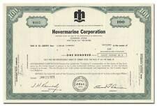 Hovermarine Corporation Stock Certificate (Hovercraft Maker)