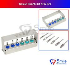 Dental Implant Tissue Punch Kit of 6 Pieces Surgical Tools Kit CE NEW
