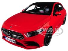 2018 MERCEDES BENZ A CLASS W/ SUNROOF RED 1/18 DIECAST MODEL CAR BY NOREV 183594