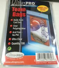 Ultra Pro Premium Resealable Team Bags pack (100)-Best for AFL Card Team Sets