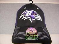 New Baltimore Ravens Mens Adult Unisex OSFA StretchFit 47' Brand Cap Hat $28