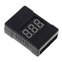 LiPo Battery Checker RC 1-8S Battery Tester Monitor Low Voltage Buzzer Alarm