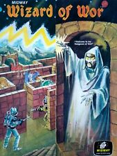 Midway Wizard Of Wor Arcade FLYER Original Fold-out Artwork Video Game 1981
