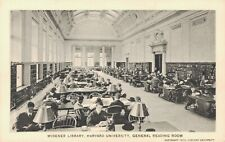 USA - Widener Library Harvard University General Reading Room Unposted 03.65