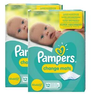 Pampers Baby Change Mats, Travel Disposable Waterproof Super Absorbent - 24 Pack