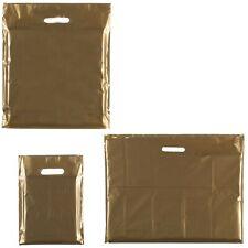 More details for gold punch handle plastic carrier gift bag/ boutique/ - medium: 15