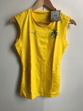 Puma Men's BVB Core SL Bodywear Top - Small (S) - Yellow - New