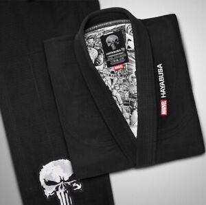 Hayabusa The Punisher Gi Uniform  Jiujitsu Brazilian Limited Edition MARVEL