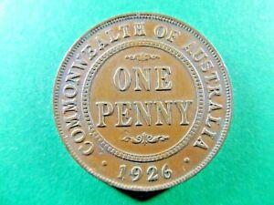 AUSTRALIAN 1926  Penny Broke Nose