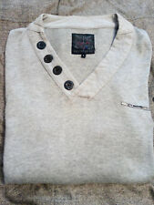 Firetrap Mens Grey Jumper/Top Size L