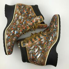 TIMBERLAND Ankle Boots 19345 Multi-colored Women's Size 6M Square Toe