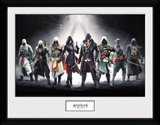 Assassins Creed Characters - Mounted & Framed Print