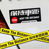 Keep Distance Warning Car Stickers Vinyl Auto Decals Window Windshield Yellow
