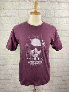 Vtg The Big Lebowski T Shirt Sz M Dude Abides Universal Studios Movie Promo