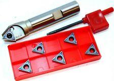 1x 30° Fasenfräser D=6-20mm-Z1-L100 + 5x  TCMT 16T304-MM ( M10-M25 ) für VA