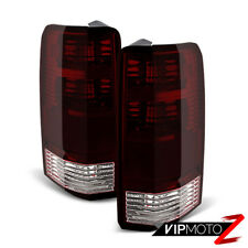 [DARK WINE RED] 2007 2008 2009 2010 2011 Dodge Nitro Rear Brake Tail Lights Pair