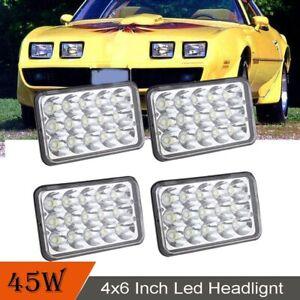 "4x6"" Led Headlight Sealed Beam Head Lamp HID Kit For Pontiac Firebird J2000 6000"