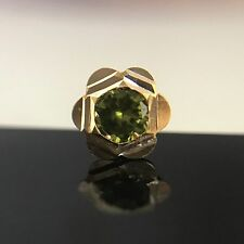 Star Clear Stud Yellow 14Kt Gold Nose Bone Pin Piercing Plated Ring 20 Gauge CZ