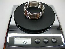 """Sterling silver stamped 925 bangle 10 pieces 88 grams 2.5"""" inner dia 2.3mm thick"""