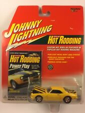 Johnny Lightning Hot Rodding 68 1968 Chevy Camaro SS Yellow Die Cast 1/64 Scale