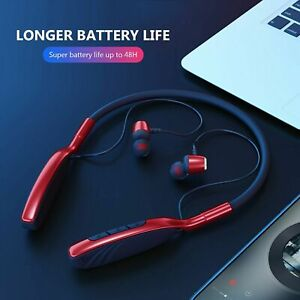 Magnetic Bluetooth Handsfree Earphones Neck Band Headsets For Samsung iPhone