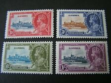 GAMBIA, SCOTT #125-128(4), COMPLETE SET 1935 SILVER JUBILEE ISSUE MH