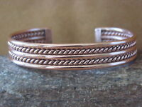 Navajo Native American Jewelry Handmade Copper Bracelet by Elaine Tahe!