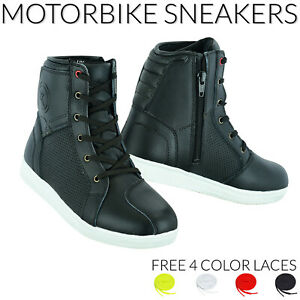Motorbike Boots Motorcycle Casual Sneaker Pure Leather Sports Shoes Waterproof