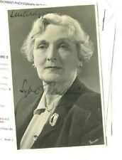 Autographed Postcard Dame Sybil Thorndike English actress