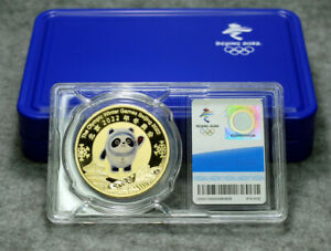 New! 2022 BeiJing Winter Olympic Mascot Metal Commemorative Badge Encapsulated