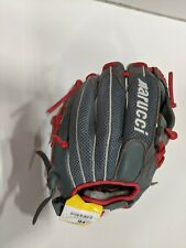 "Marucci Geaux 11"" RHT Baseball Glove Grey/Red"