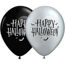 "HALLOWEEN PARTY SUPPLIES BALLOONS 10 x 11"" QUALATEX HALLOWEEN MOON BATS BALLOONS"