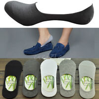 10 Pairs Men Sexy Bamboo Fiber Loafer Boat Liner Low Cut No Show Nonslip Socks