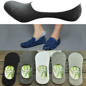 10Pairs Women/Men Loafer Boat Invisible No Show Nonslip Liner Low Cut Socks Hot