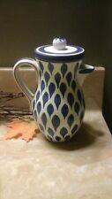 "Stig Lindberg Gustavsberg Sweden Hand Painted Pitcher W/ Lid Teapot 7"""