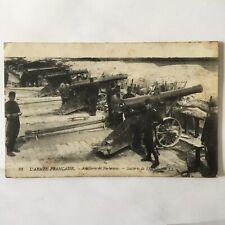 CPA Armée Française Artillerie De Forteresse Batterie De 138
