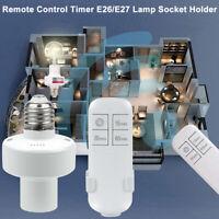 Remote Control Light Lamp Socket E26/E27 Screw Wireless Timing Holder Bulb Cap
