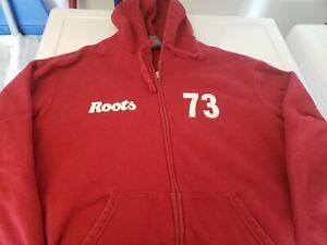 ROOTS CANADA Men's Full Zip Up Hoodie Sweatshirt Jacket Size Medium